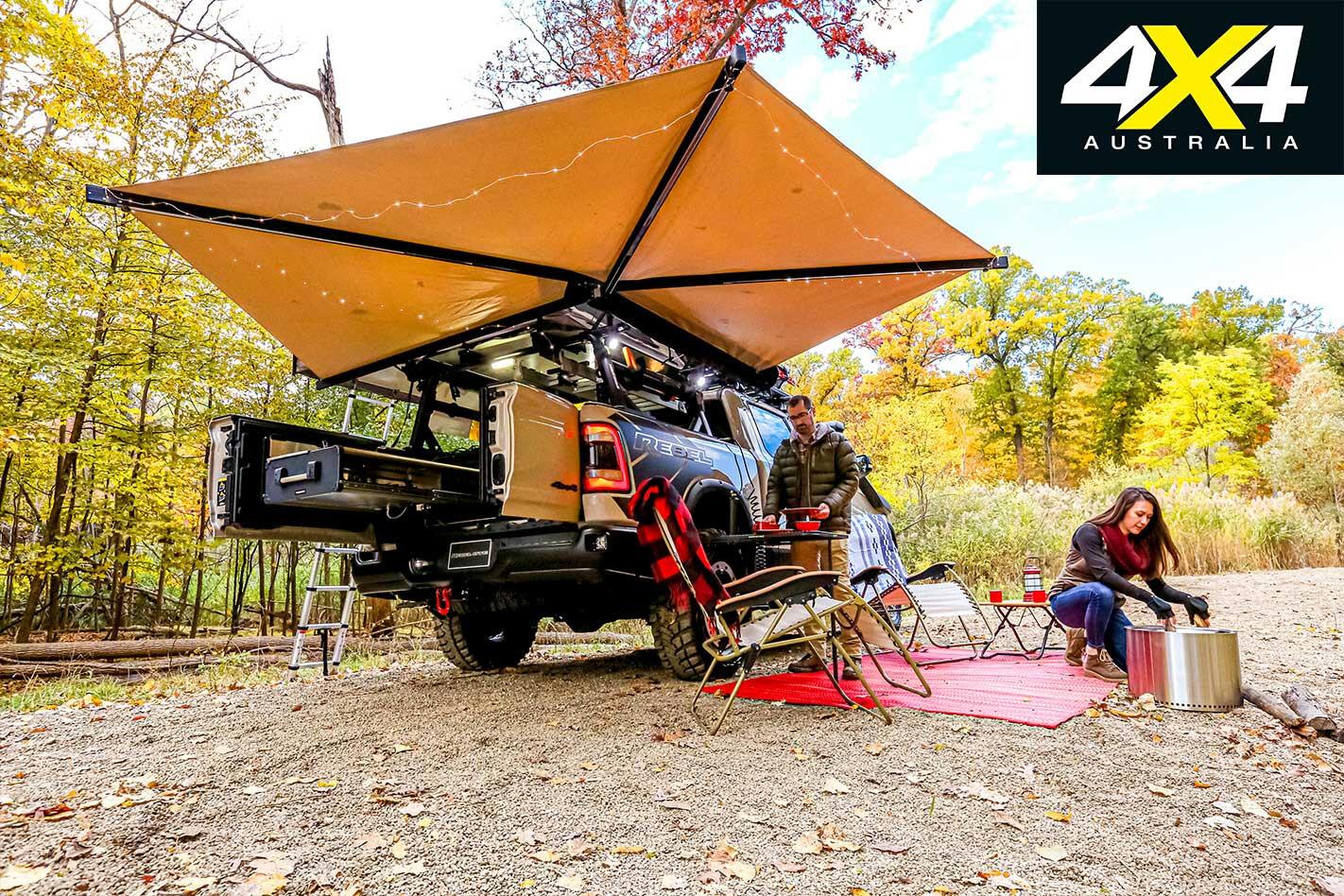 Ram 1500 Rebel OTG set up for camping