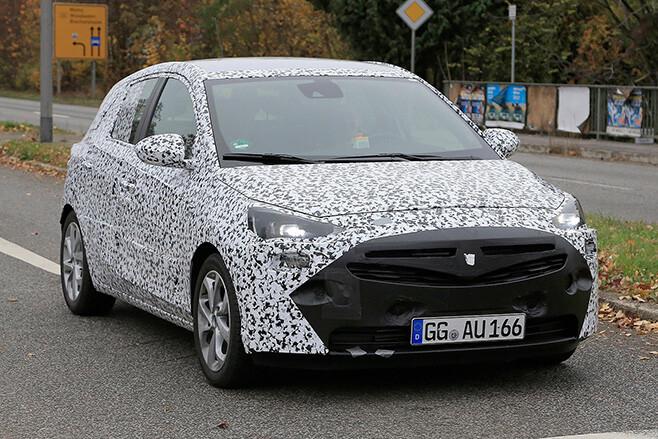 2018 Opel Corsa spy shot