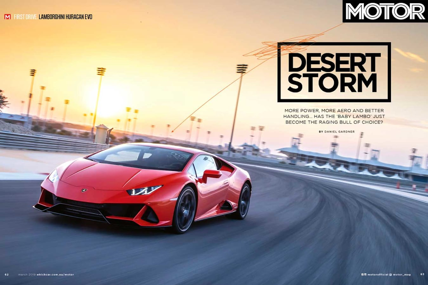 MOTOR Magazine March 2019 Issue Lamborghini Huracan Evo Jpg