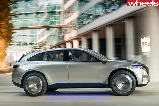Mercedes -Benz -EQ-concept -SUV-side -driving