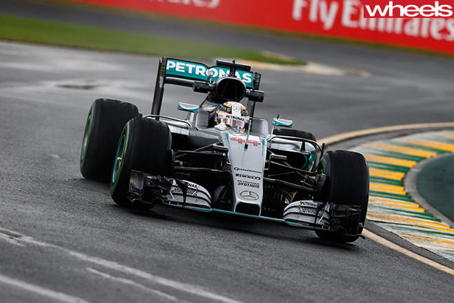 F1-car -driving -front
