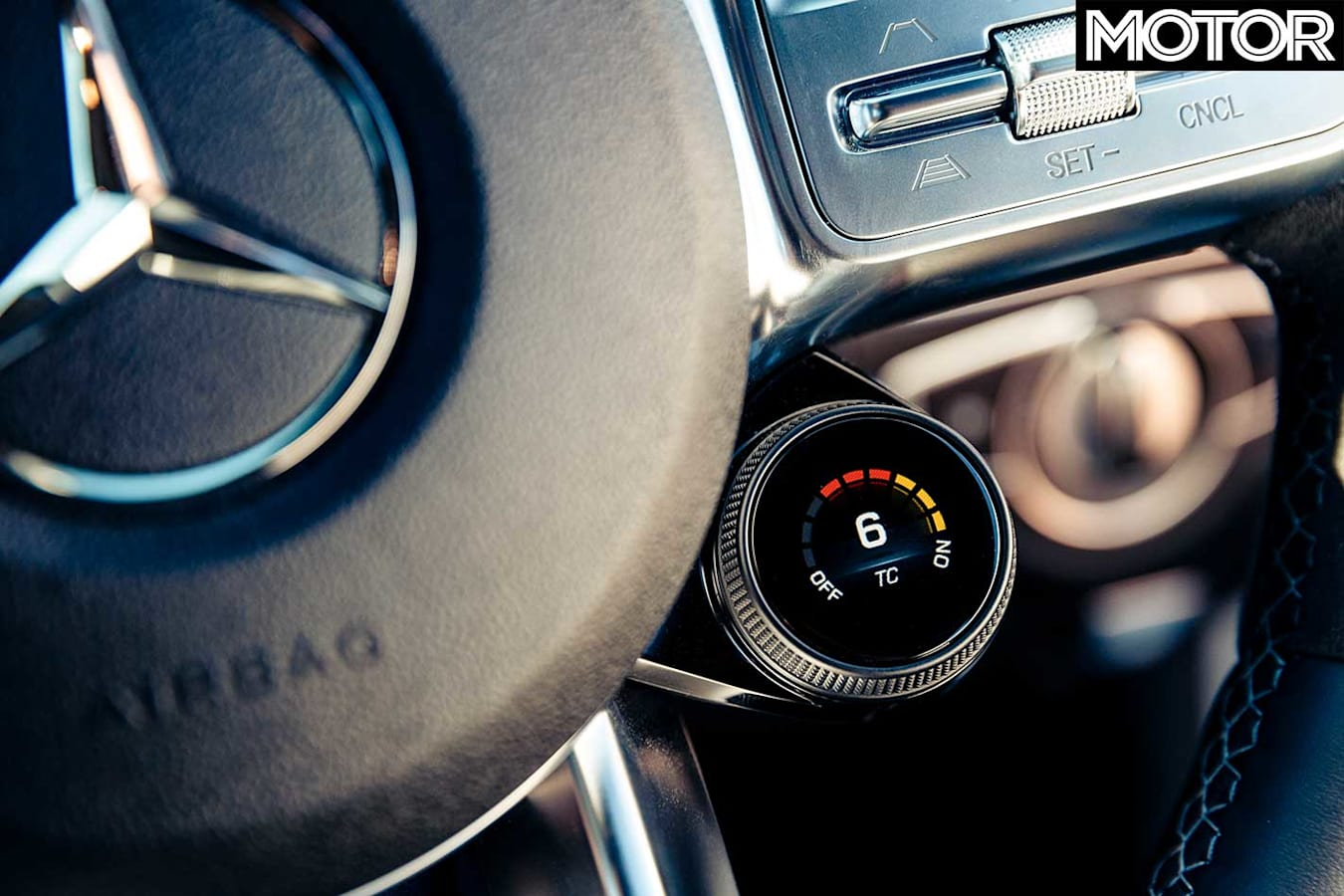 2019 Mercedes AMG C 63 S Traction Control Dial Jpg