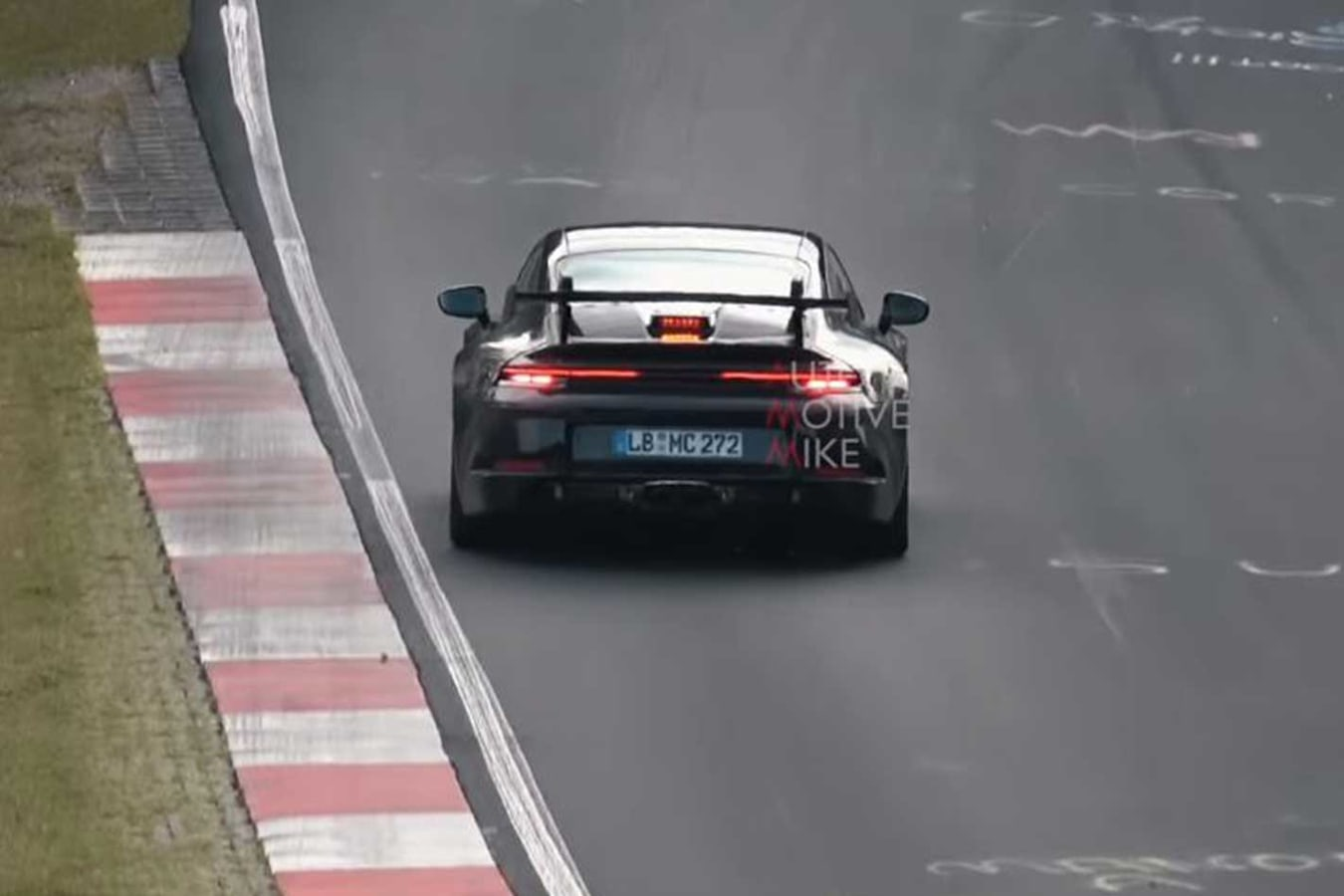 Porsche 992 911 Testing Nurburgring Taillights Jpg