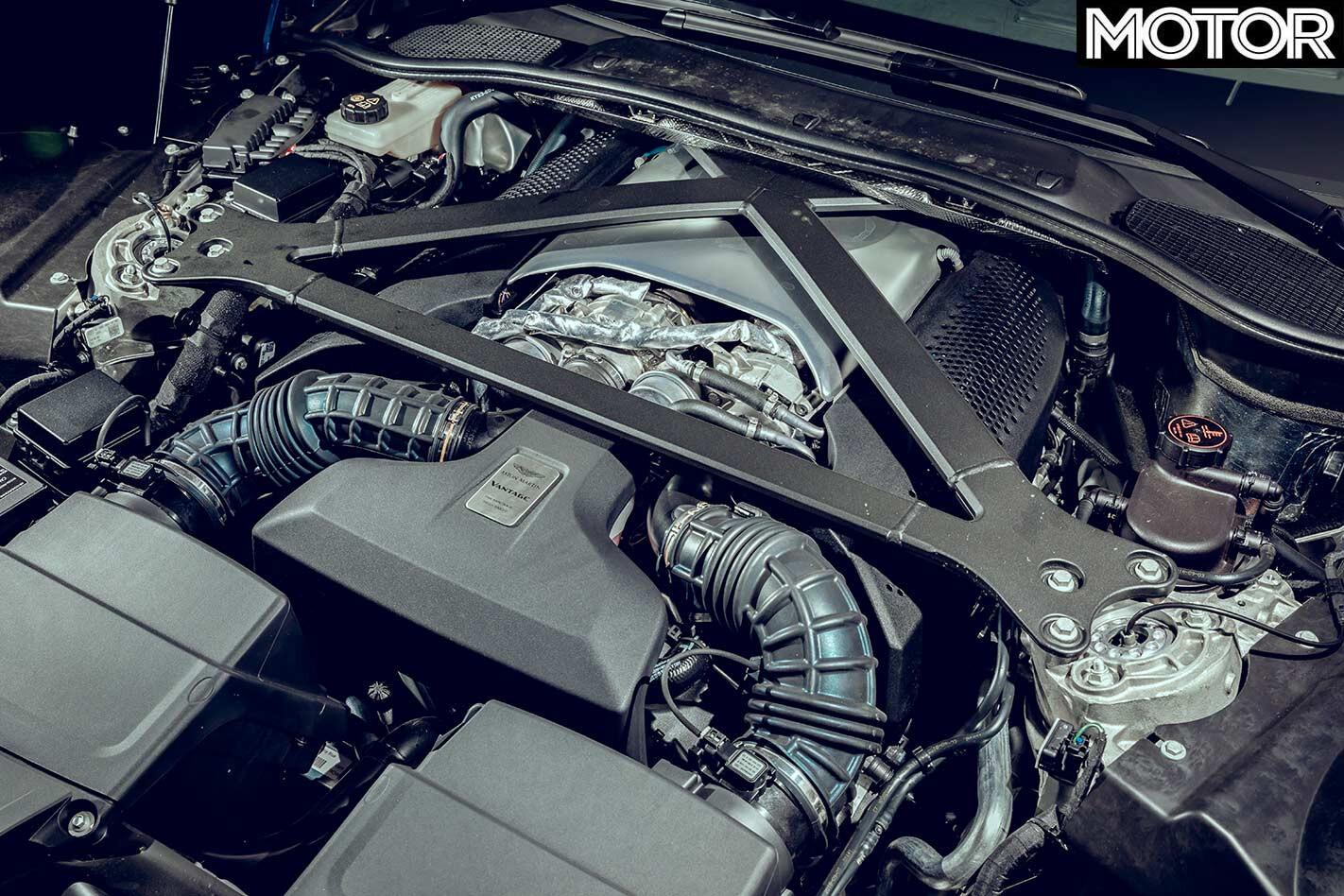 Aston Martin Vantage engine bay