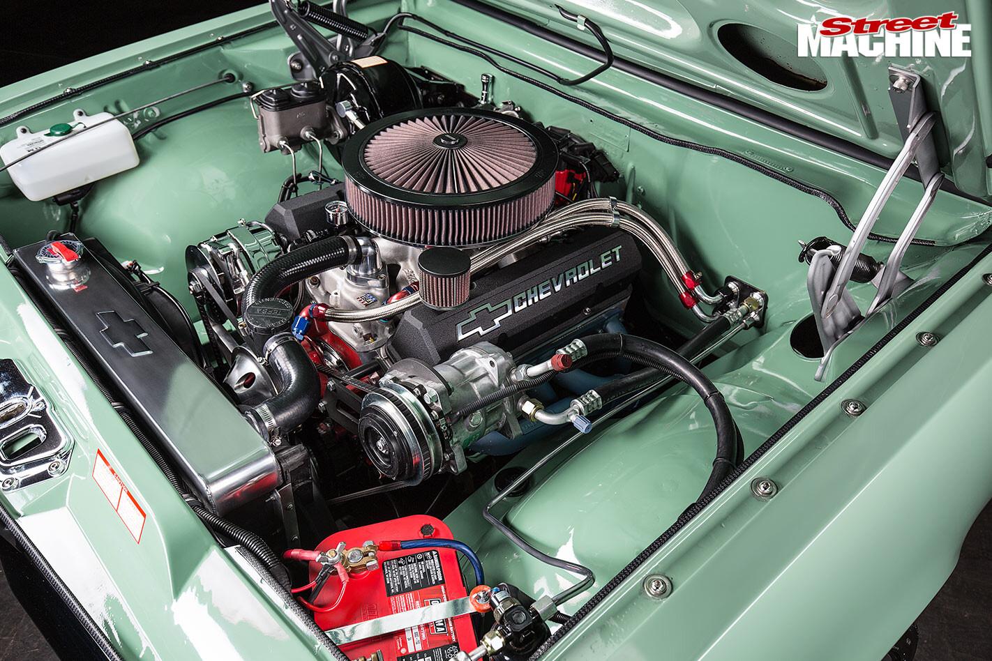 Holden HK wagon engine bay