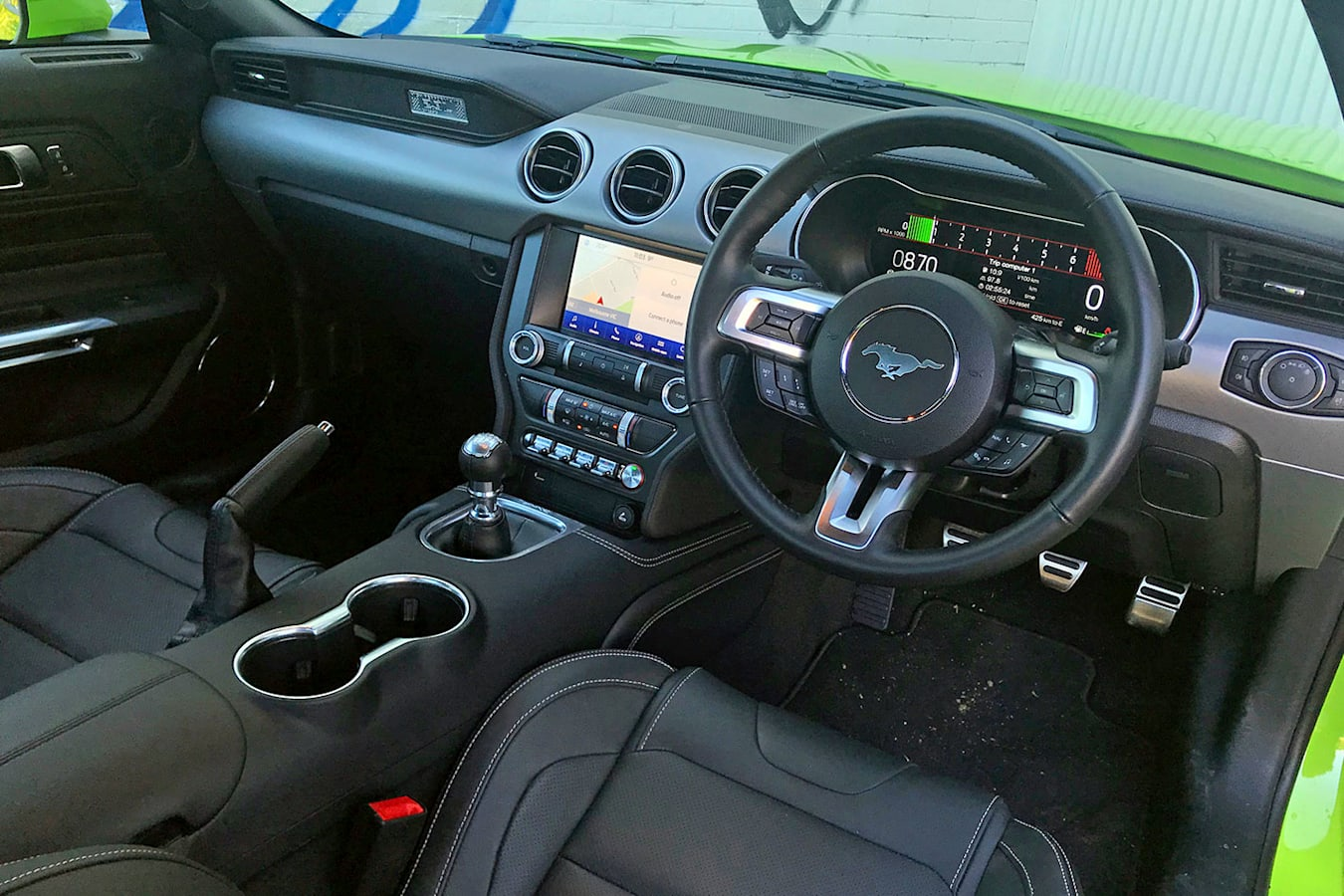 Ford Mustang interior with optional Recaro seats