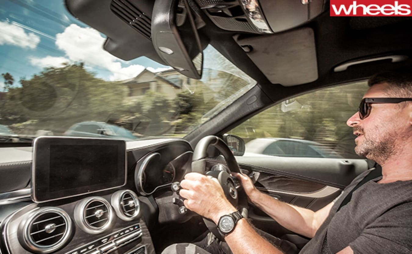 2016-Mercedes -AMG-C63-S-Coupe -interior -driving