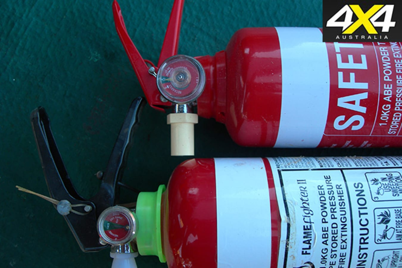 Frequently check your fire extinguisher.