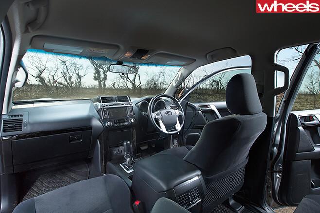 Toyota -Prado -front -seats -interior