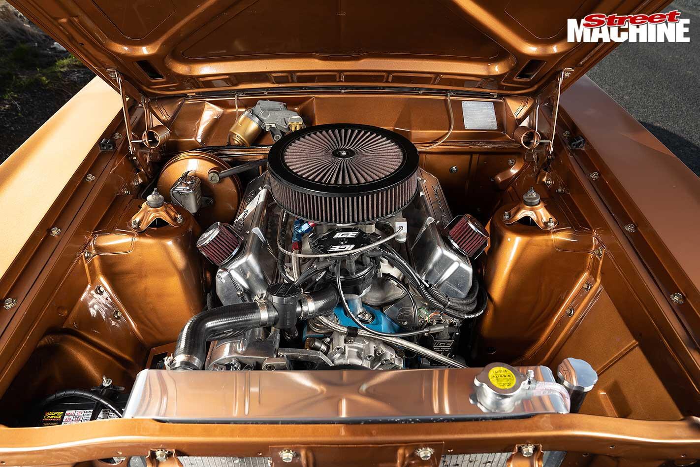 Ford XY Falcon 500 engine bay