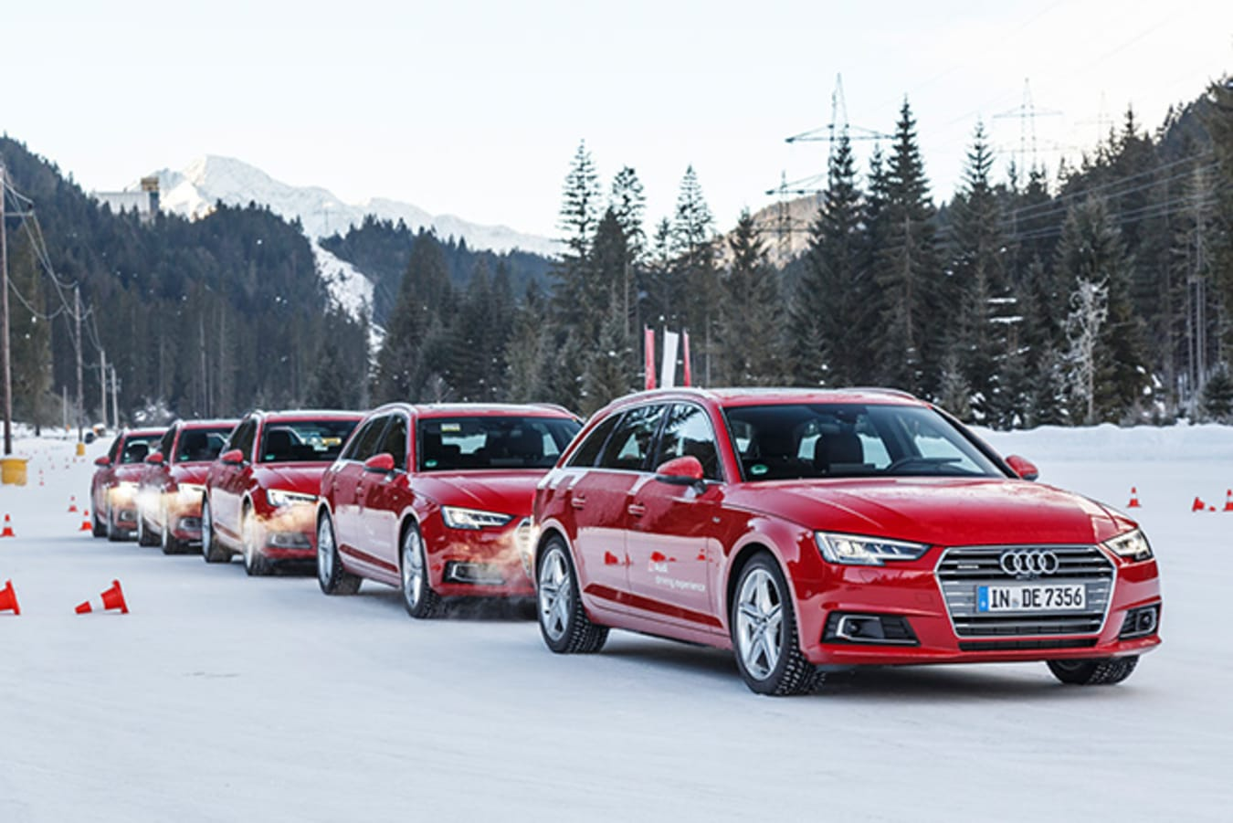Audi Driving Experience - Red Audi lined up