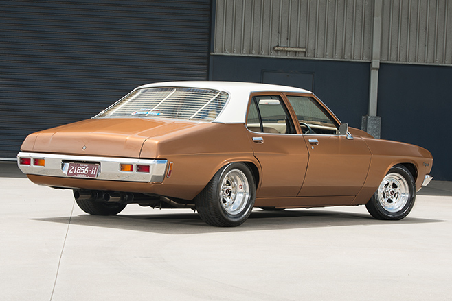 Holden HQ Kingswood rear angle