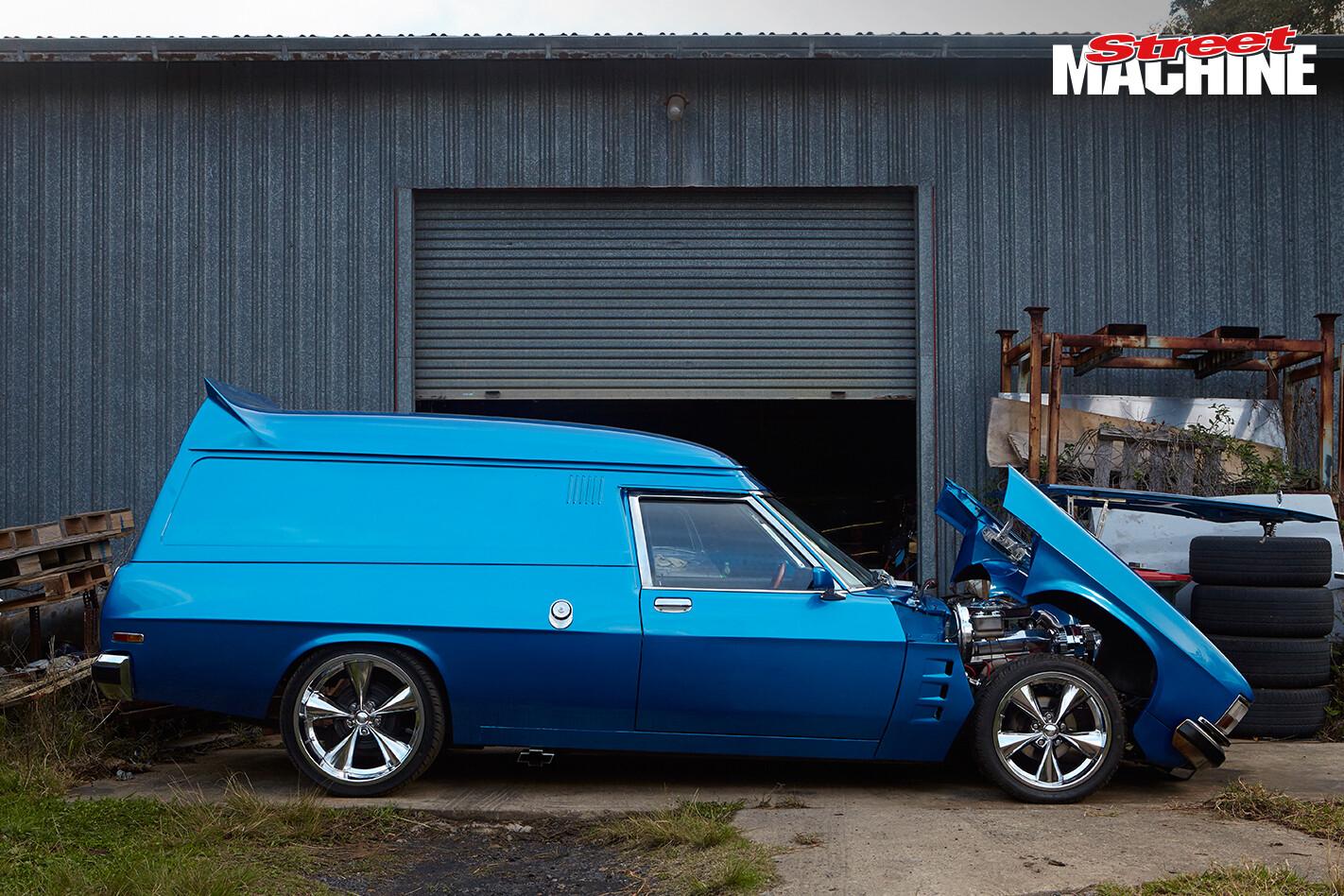 Holden Panel Van Blue Tilt 1