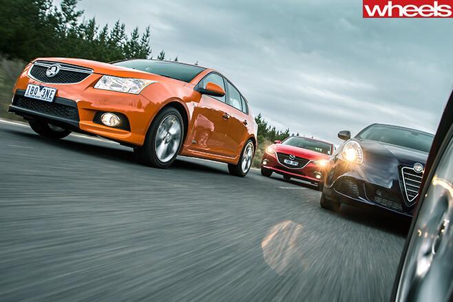 Holden -Cruze -and -Mazda -3-and -Alfa -Romeo -Guiletta