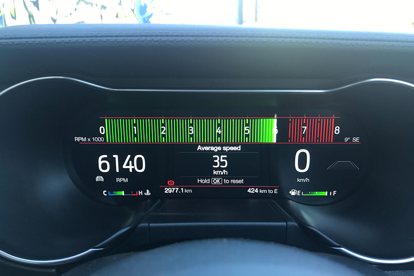 Ford Mustang digital instrument display