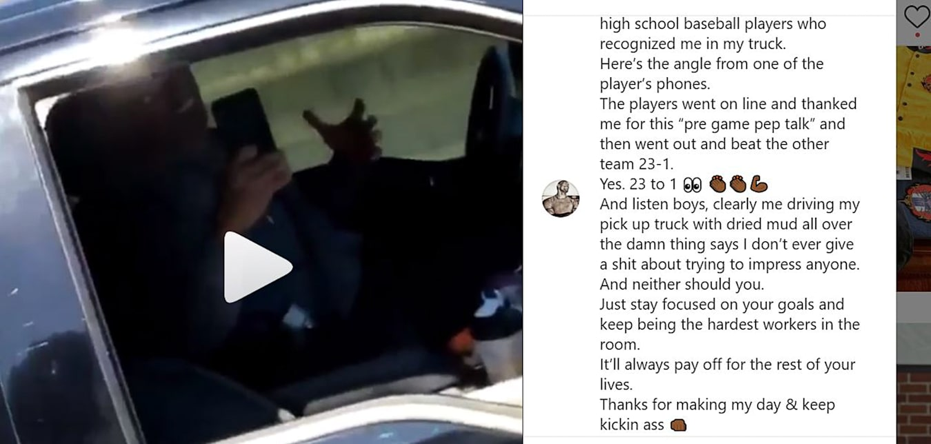 The Rock filming and driving 2019