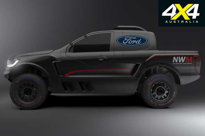 Ford Ranger Rally Raid Ute Side Jpg