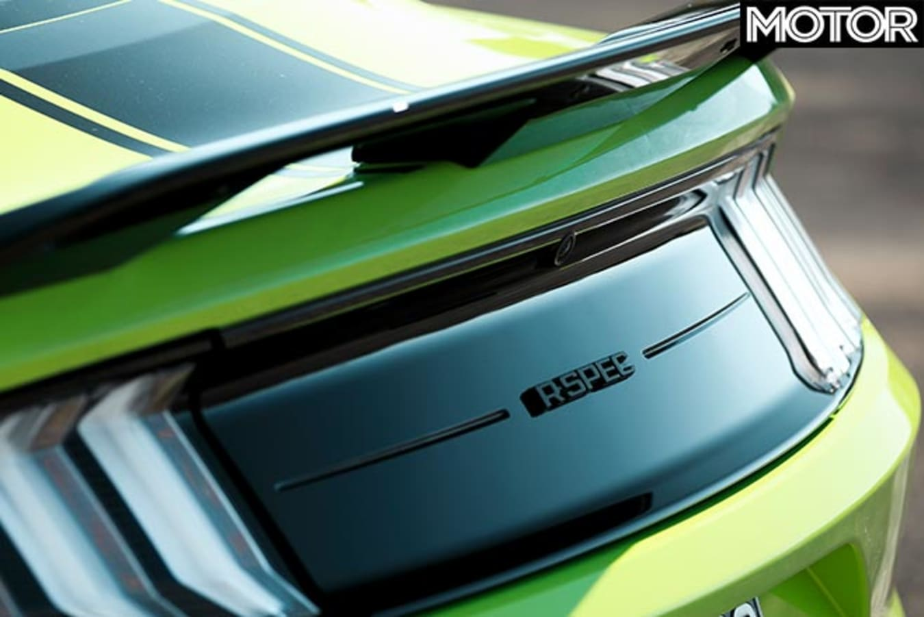 Ford Mustang R-Spec badge