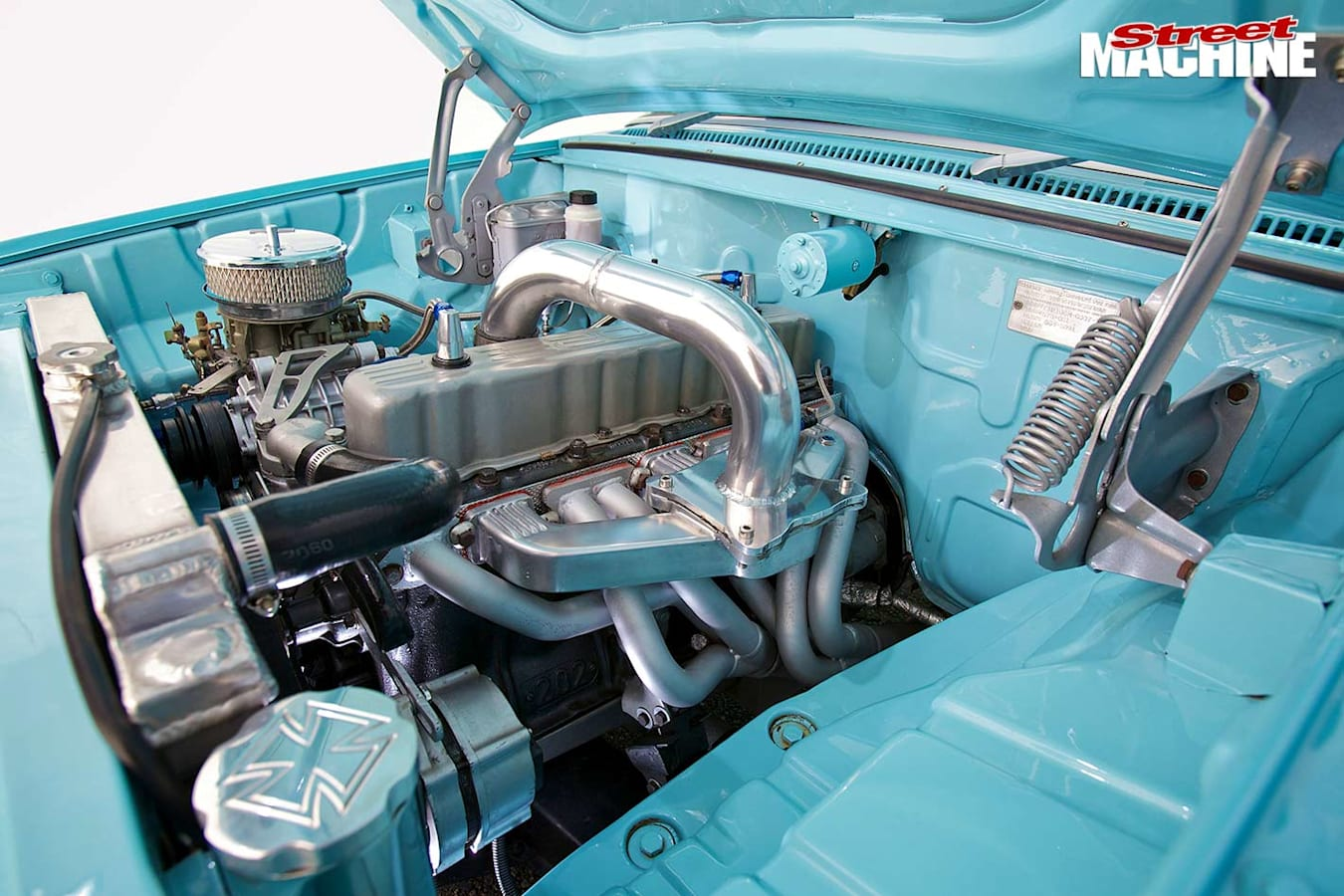 Holden EH ute engine bay