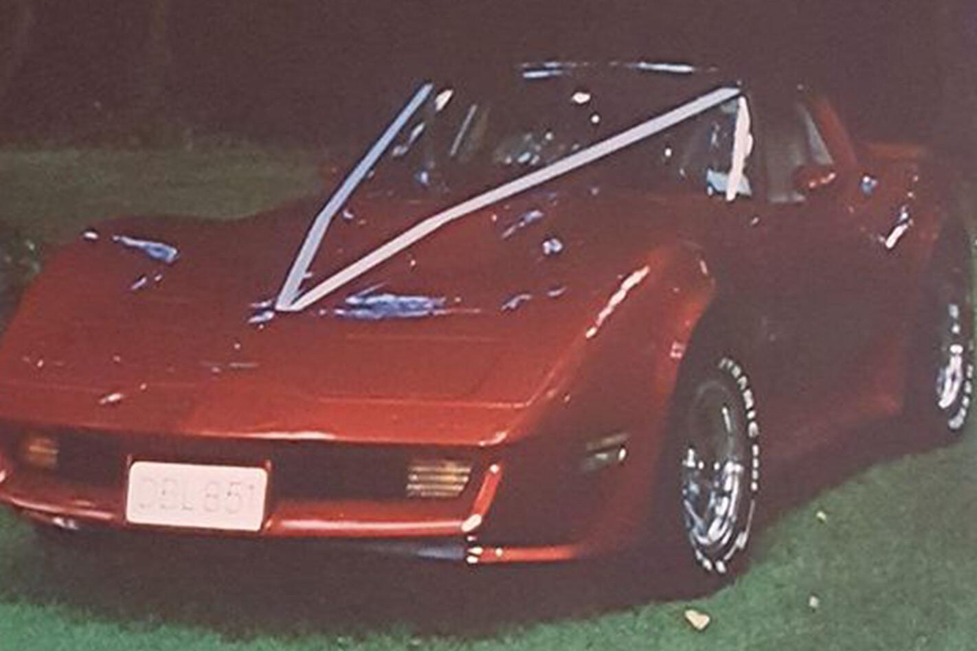 Graham Espiner's wedding car