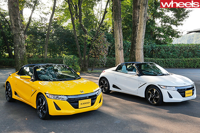 Honda -S660-yellow -and -white -parked -outside