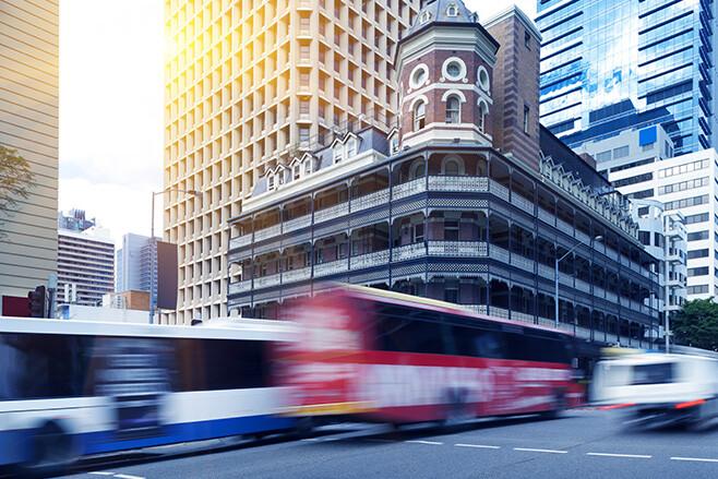 Brisbane City CBD traffic