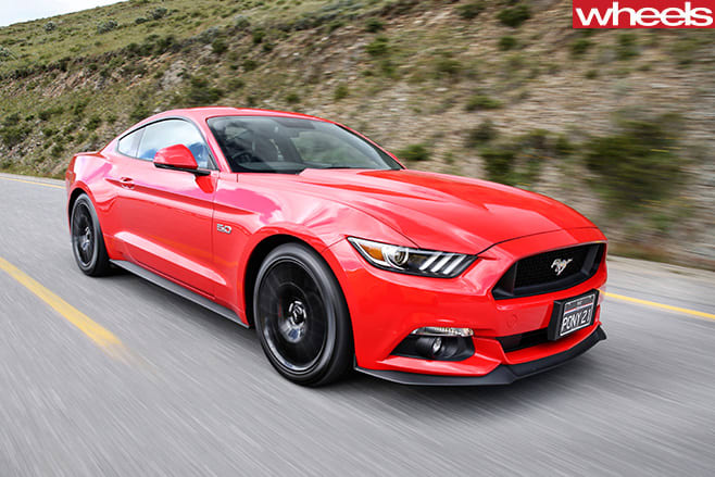 Ford -Mustang -driving -front -side