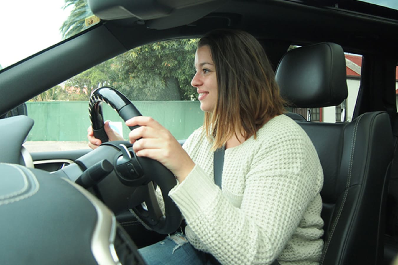 Anna Kantilaftas Lifestyle Editor of WhichCar driving Jeep Cherokee