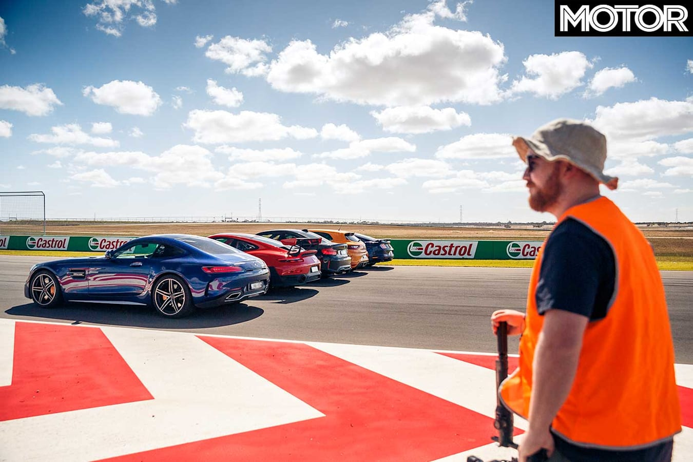Performance Car Of The Year 2019 Track Test Drag Line Up Jpg
