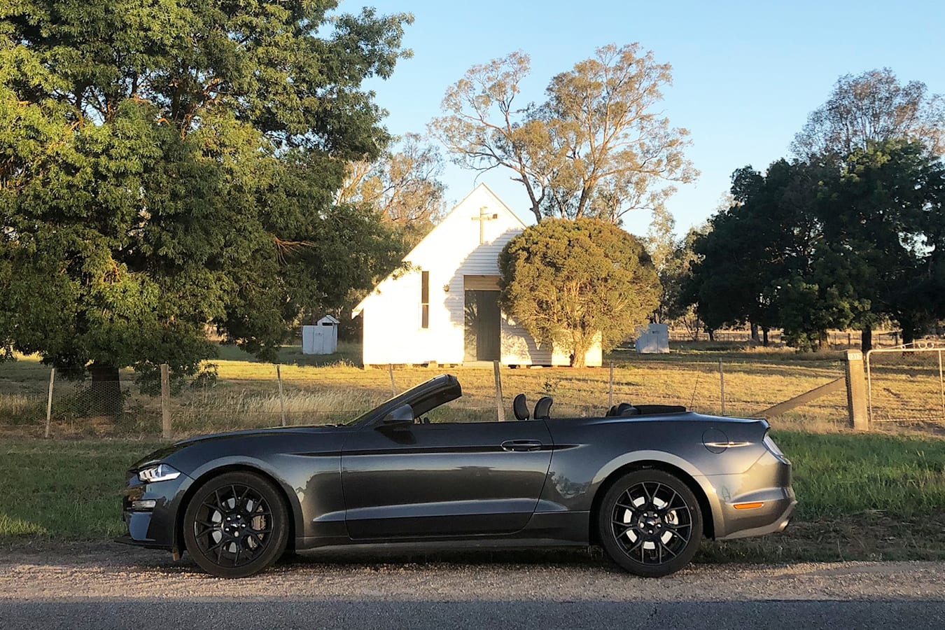 Ford Mustang Convertible Side On Jpg