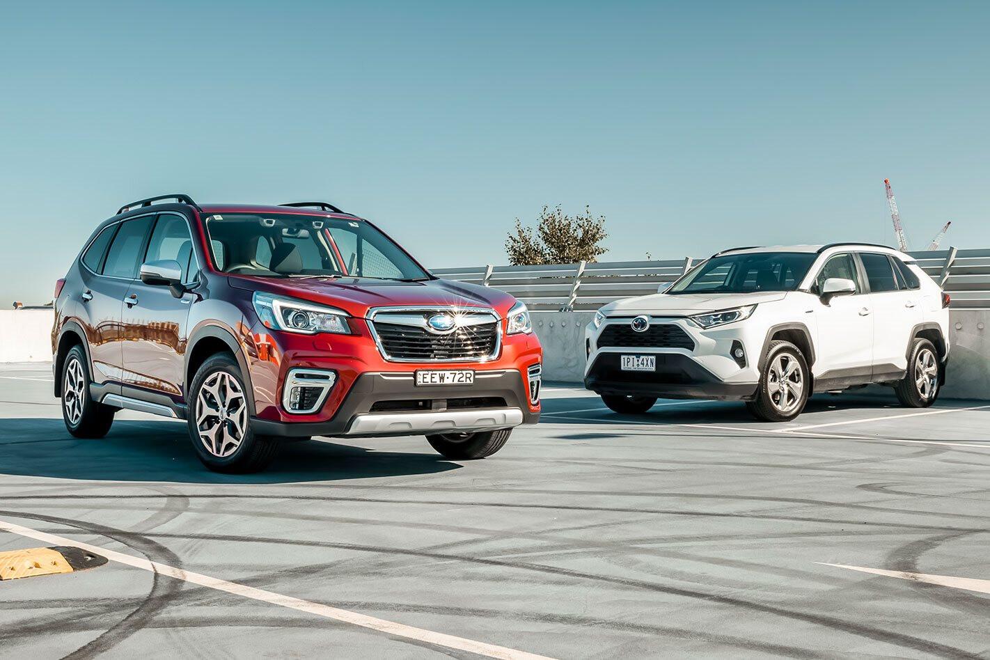 Twin test: Subaru Forester Hybrid vs Toyota RAV4 Hybrid