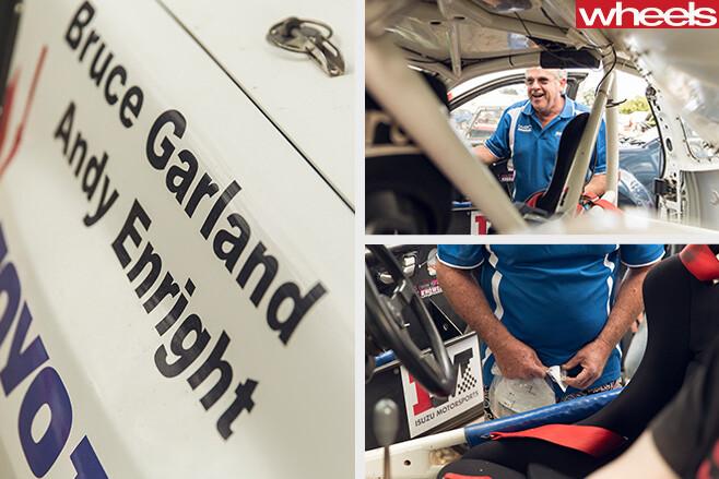 Bruce -Garland -Rally -Australia -inspection