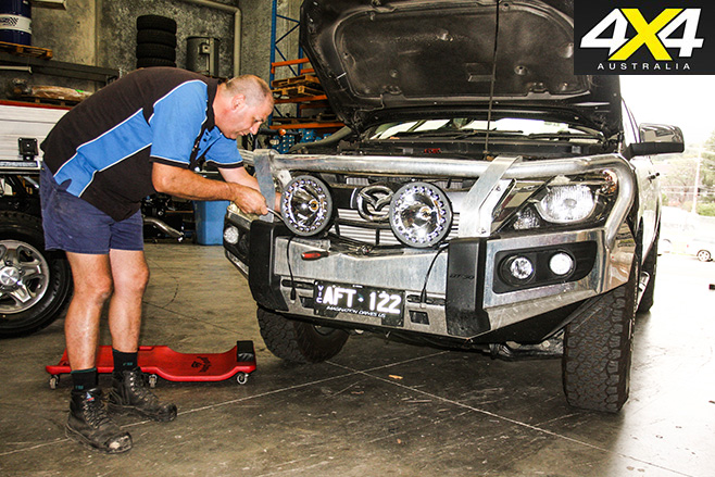 Lights fitted to Mazda BT-50