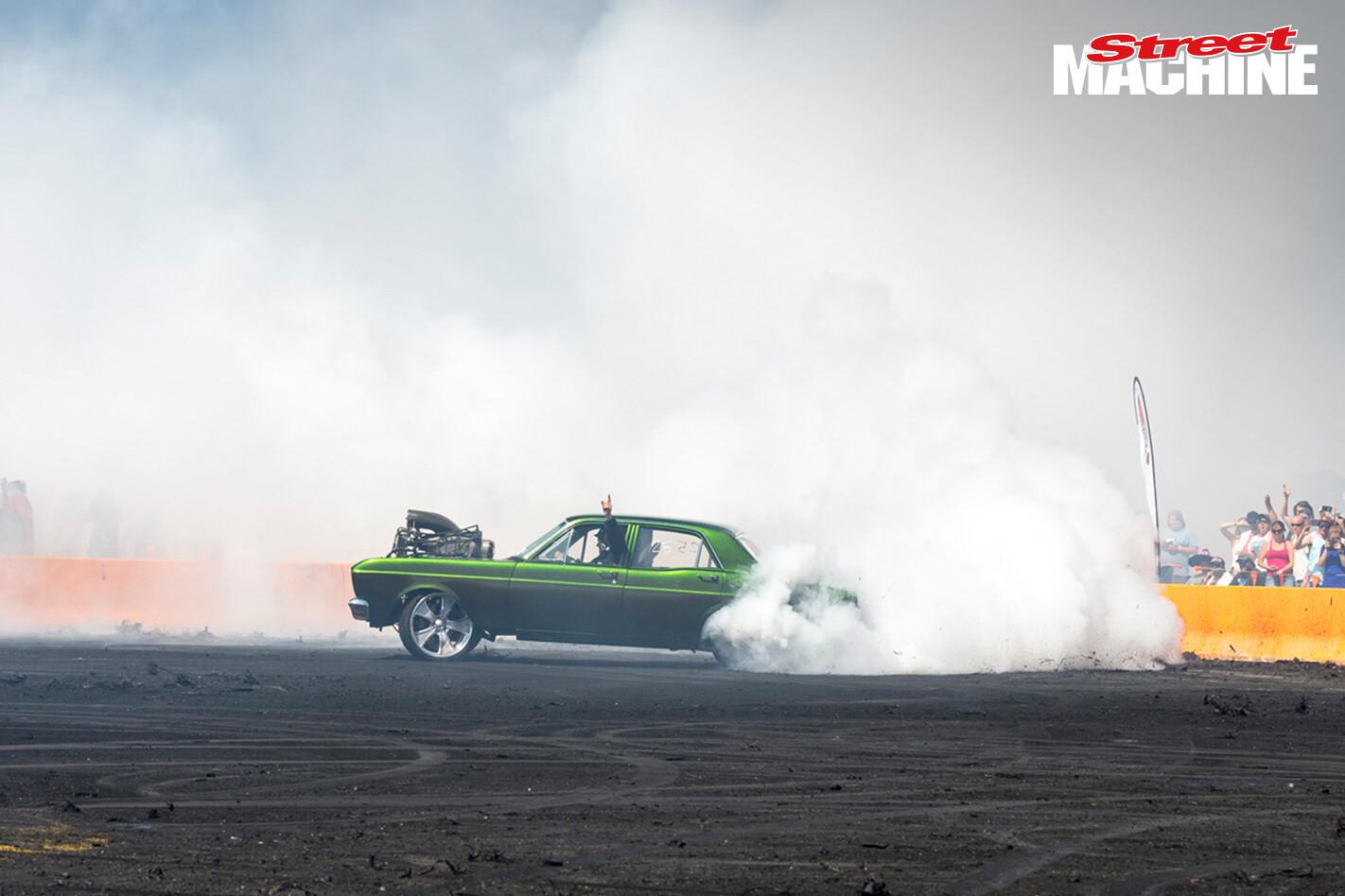 Ford XR Falcon Burnout Blown ATRISK