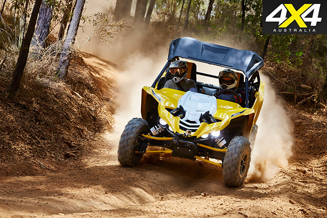Yamaha YXZ1000R taking turns
