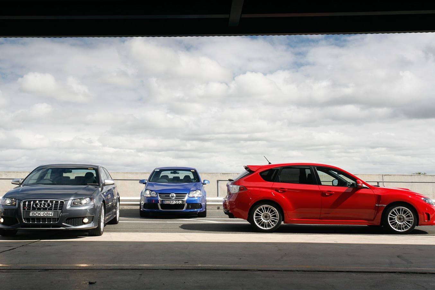 2008 Subaru Impreza WRX STI vs Audi S3 vs Golf R32