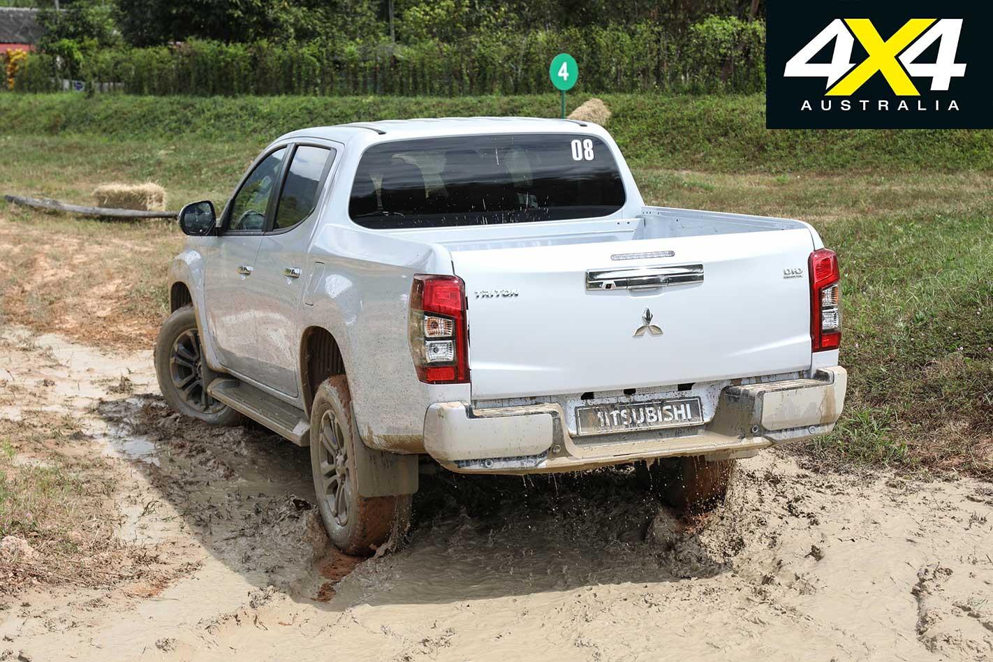 2019 Mitsubishi Triton Rear Muddy Tracks Jpg