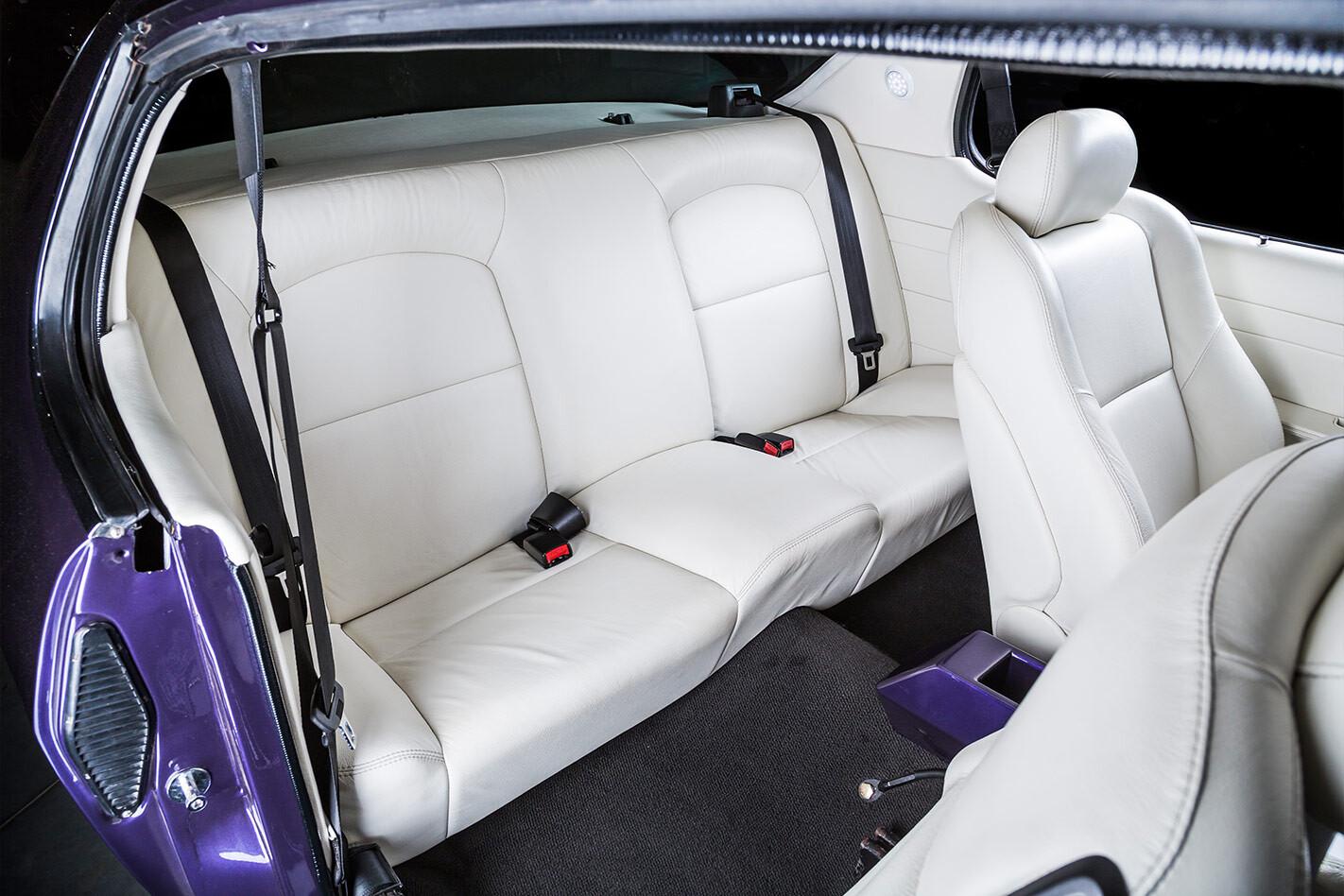 Holden HQ Monaro interior rear