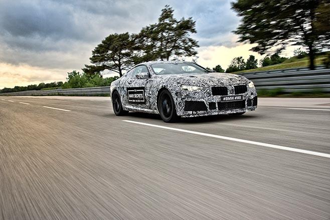 2018 BMW M8 prototype three quarter