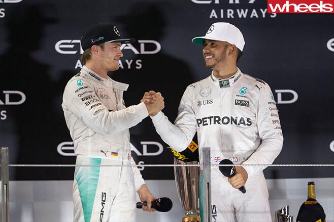 Hamilton congratulates Rosberg