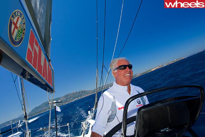 Neville -Crichton -as -skipper -of -Alfa -Romeo -II-yacht