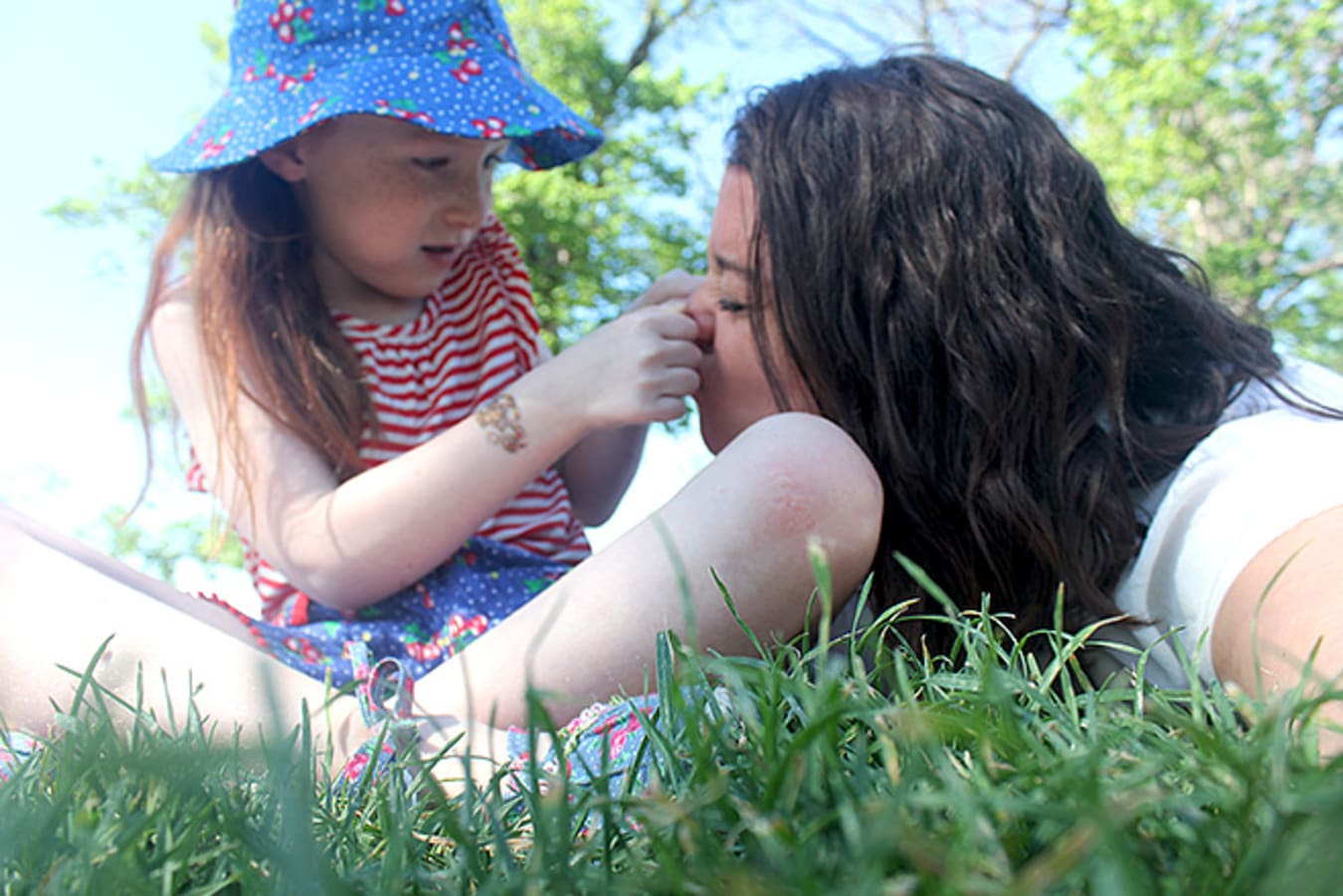 Anna and Katie in Park