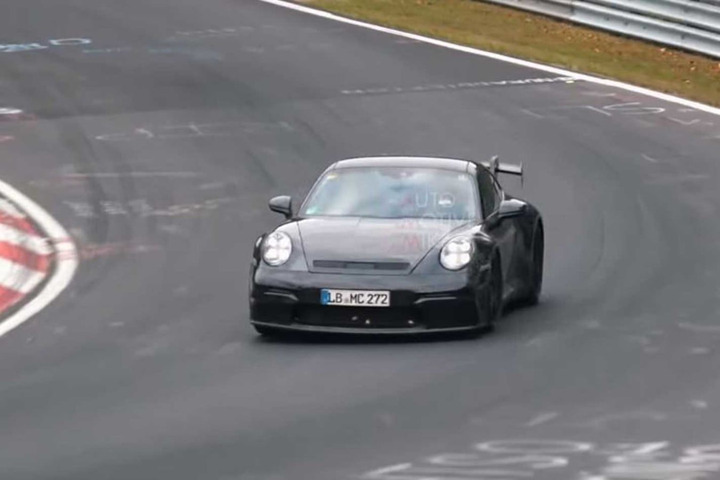 Porsche 992 911 Testing Nurburgring Front Jpg