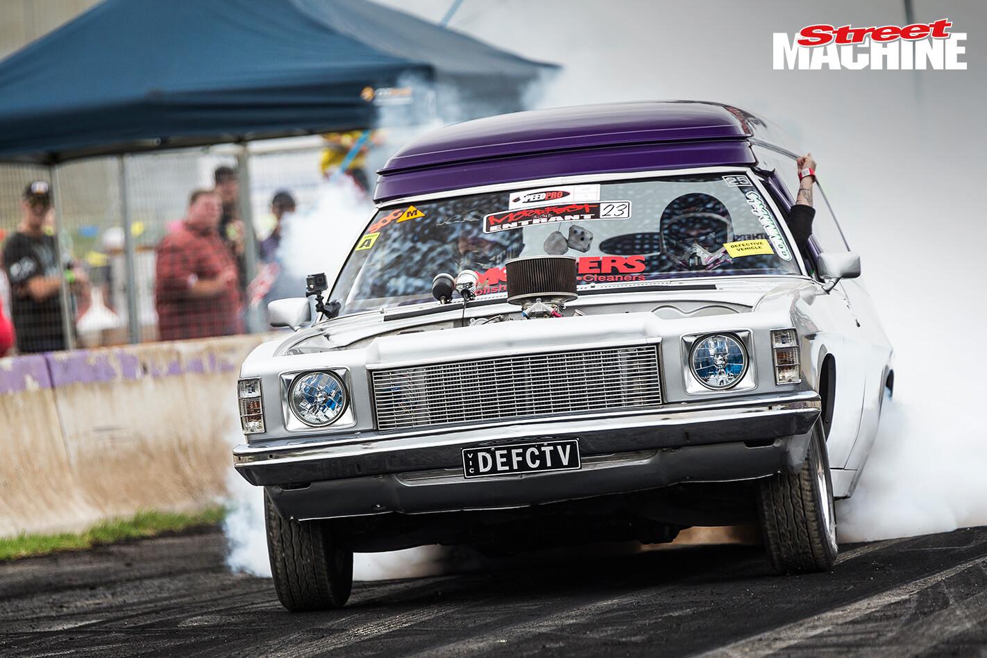 Holden HX Panel Van Burnout Nw