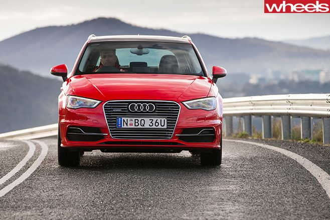 Red -Audi -A3-e -tron -front