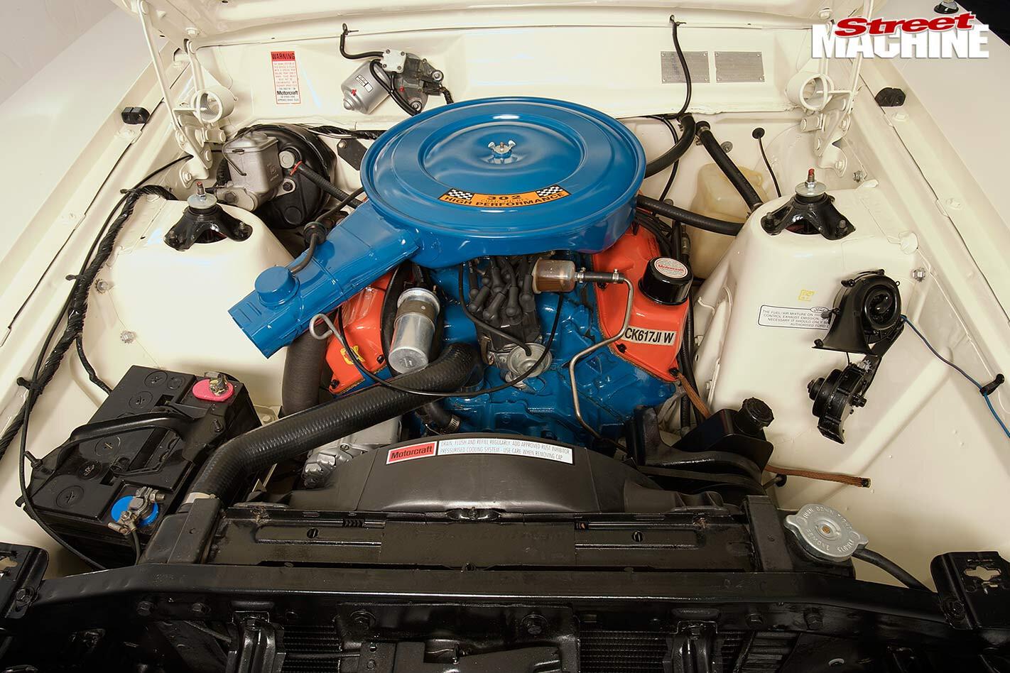 Ford Falcon XB wagon engine bay