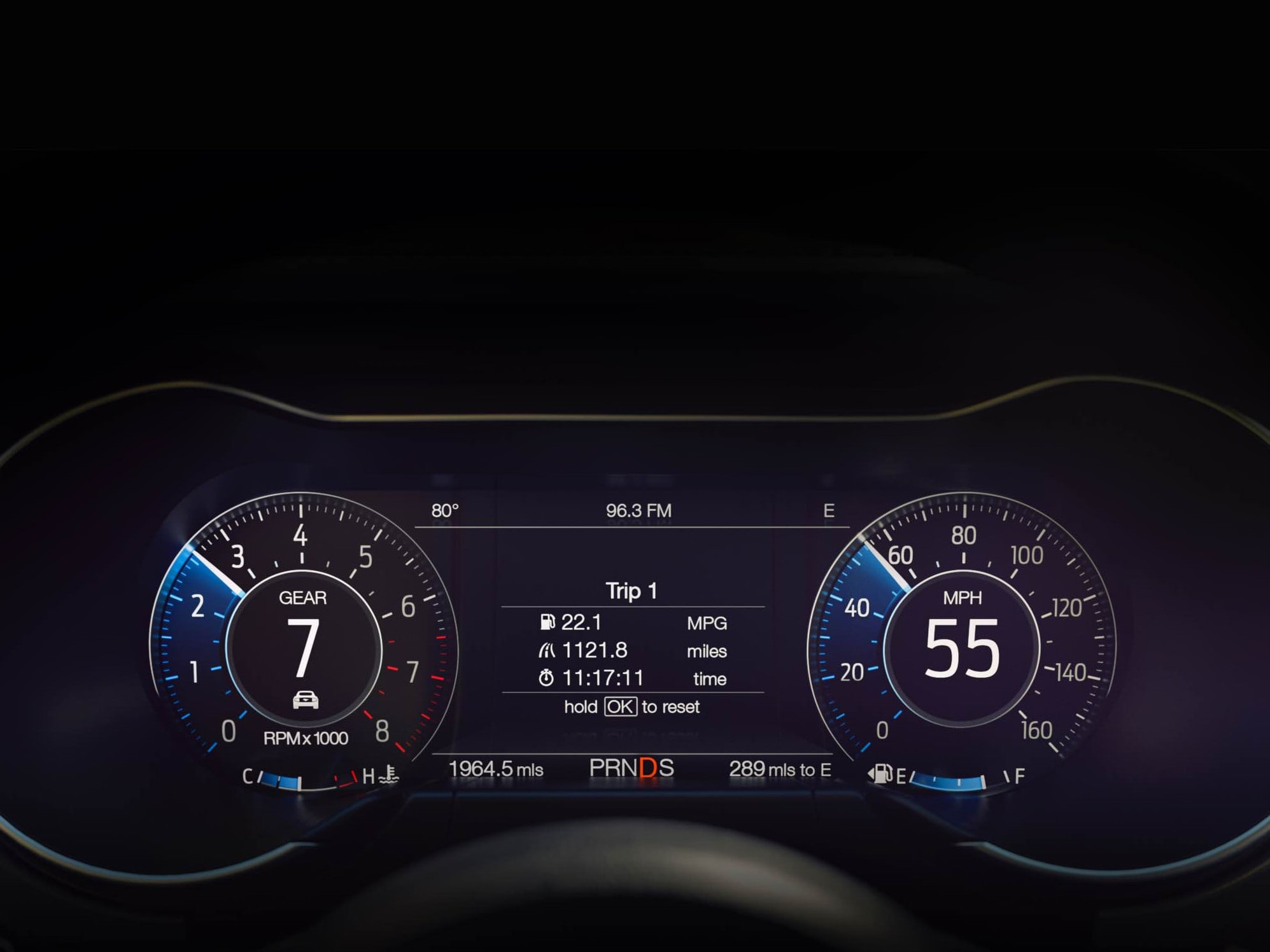 632_New -Ford -Mustang -12-inch -LCD-digital -instrument -cluster -in -Normal -View