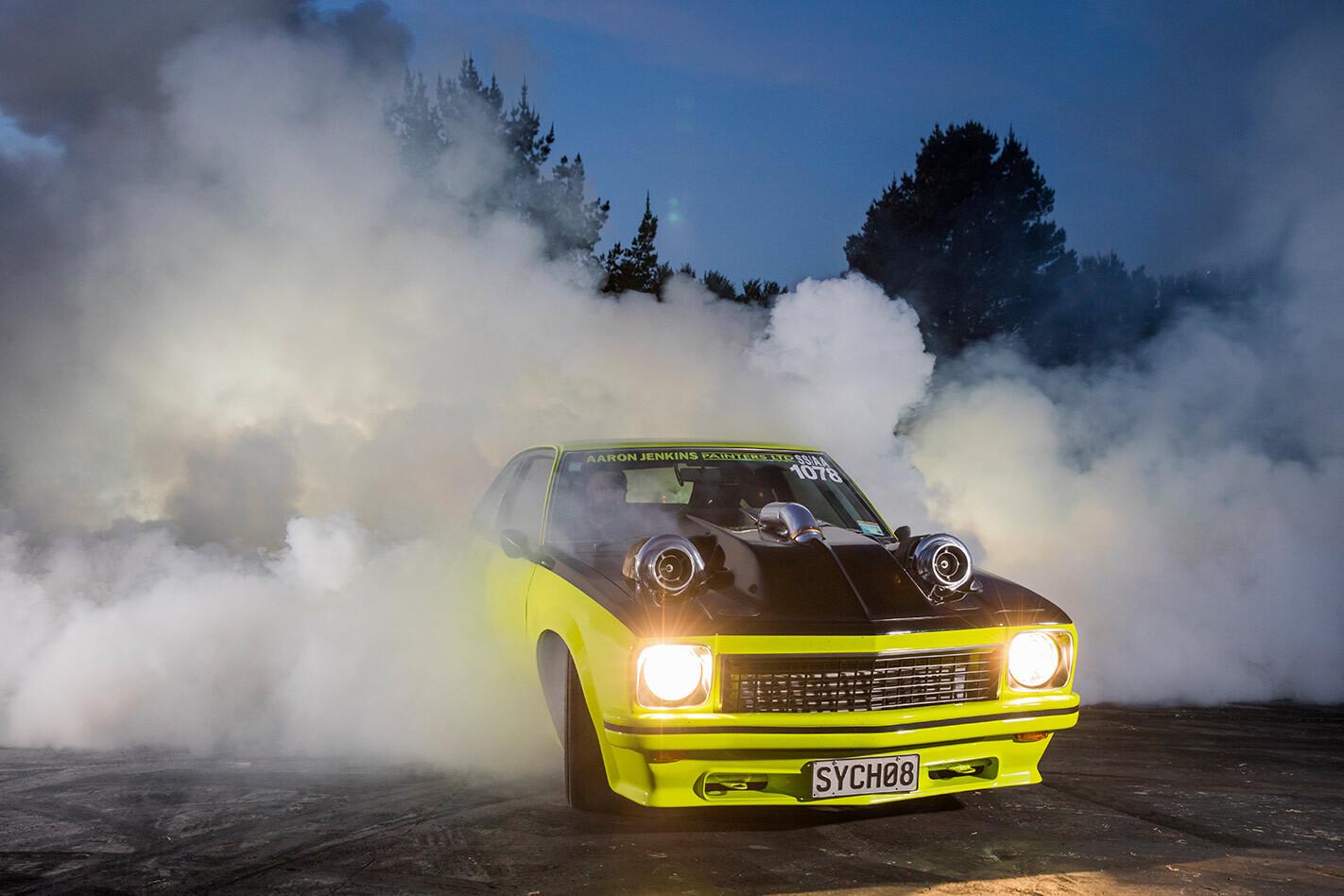 Holden Torana burnout