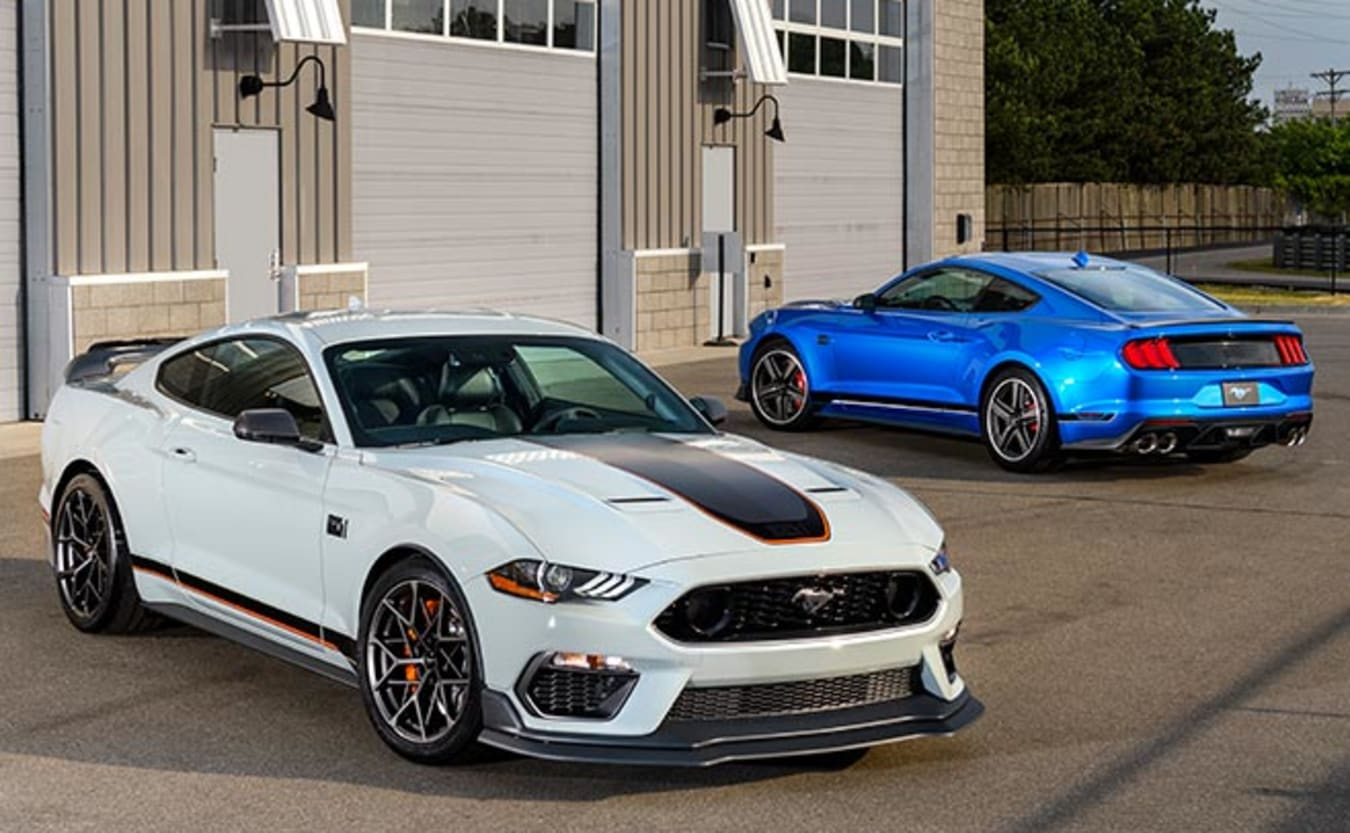 2021 Ford Mustang Mach 1 white blue