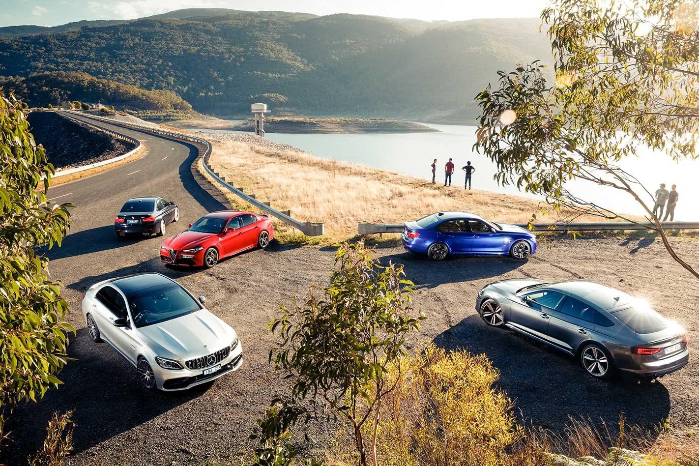 2019 Mercedes-AMG C63 S vs Audi RS5 Sportback vs BMW M3 Pure vs Alfa Romeo Giulia Q vs Alpina B3 S comparison review